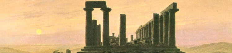 Friedrich - Temple of Juno (detail)