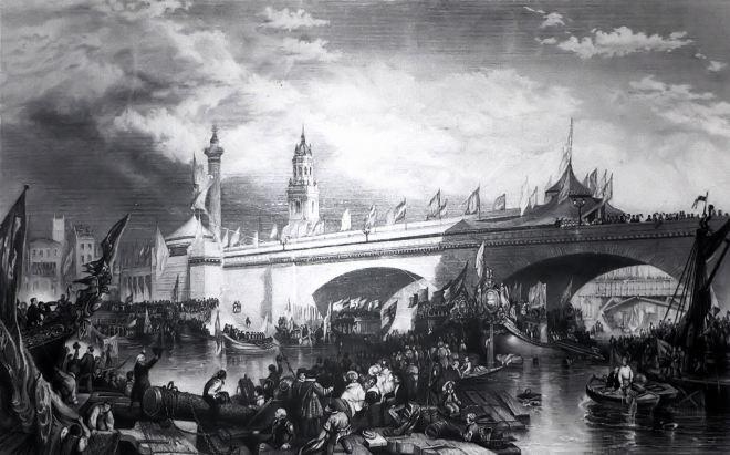 Unknown artist, London Bridge (1831)