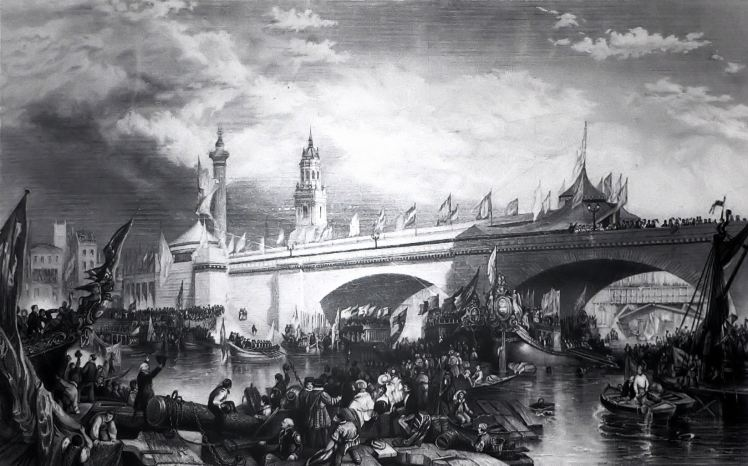 Unknown artist, London Bridge (1831)