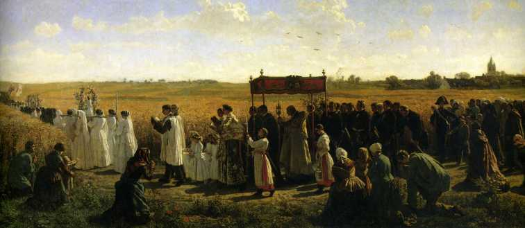 Breton - The Blessing of the Wheat in Artois (1857)