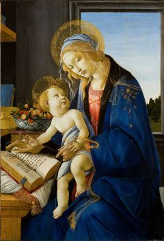 697px-Sandro_Botticelli_-_The_Virgin_and_Child_(The_Madonna_of_the_Book)_-_Google_Art_Project